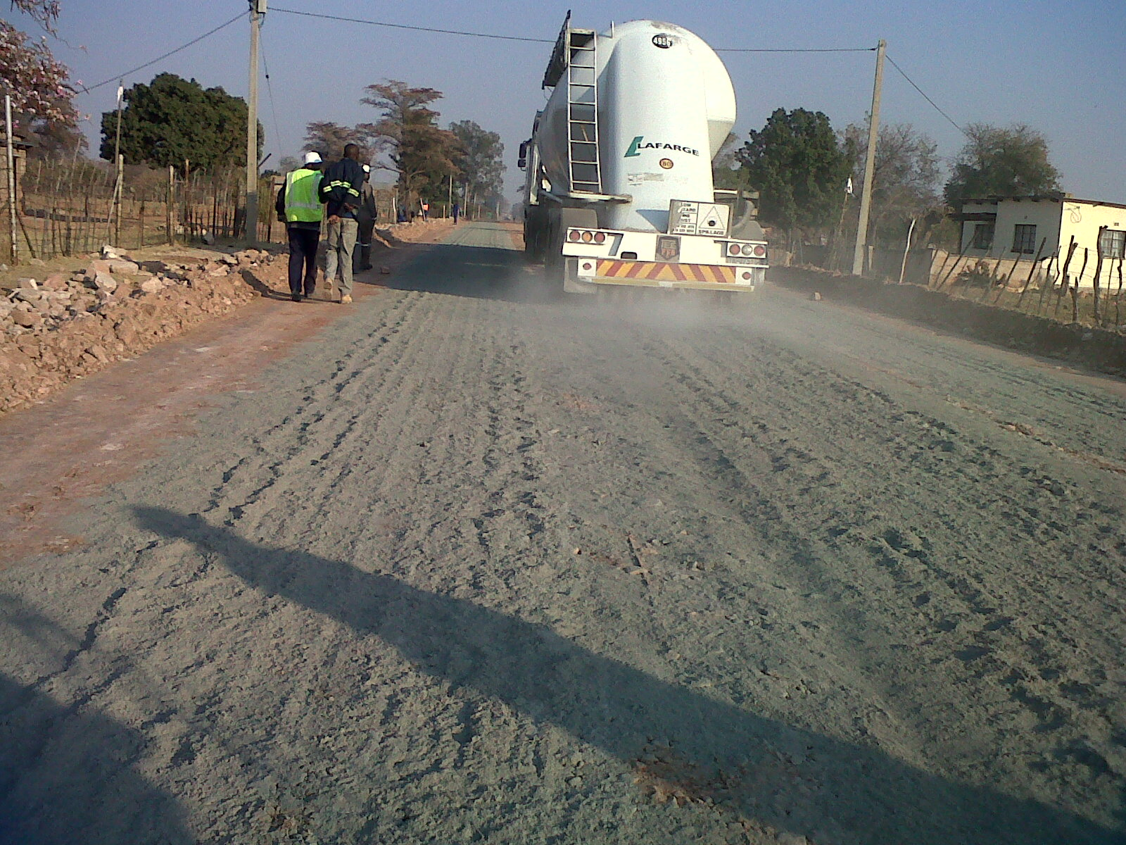 Road layer stabilisation