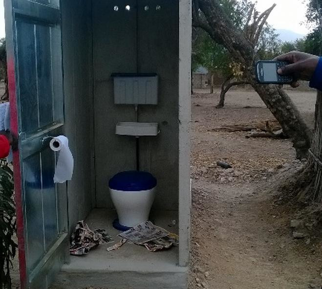 Inside View of Completed VIP toilet